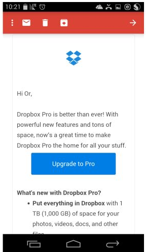 dropbox newsletter